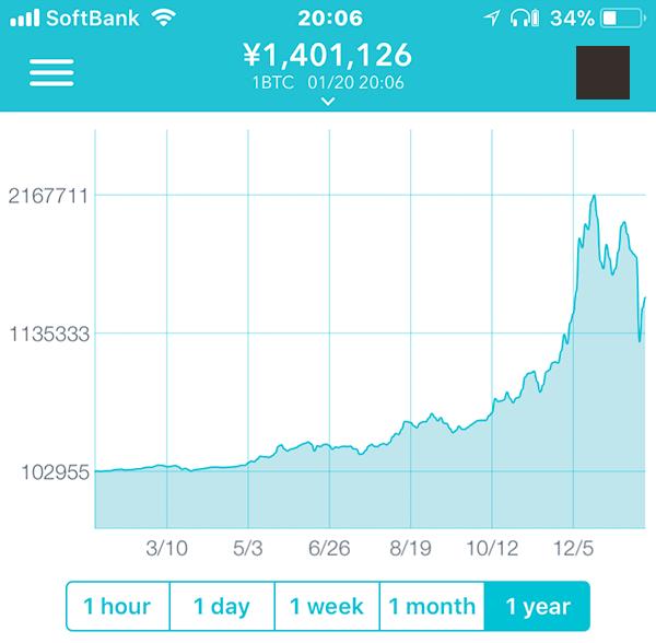 ビットコインの成長グラフ