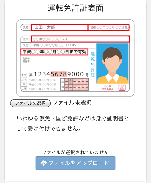 zaif_運転免許証表面